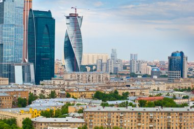 Cityscape - view of Moscow and business center
