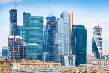 View of Skyscrapers International Business Center, Moscow, Russia