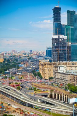 City of Moscow, the Third Ring Road and the business center Moscow-City
