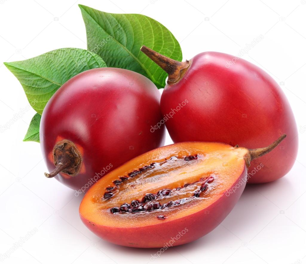 Tamarillo fruits with leaves