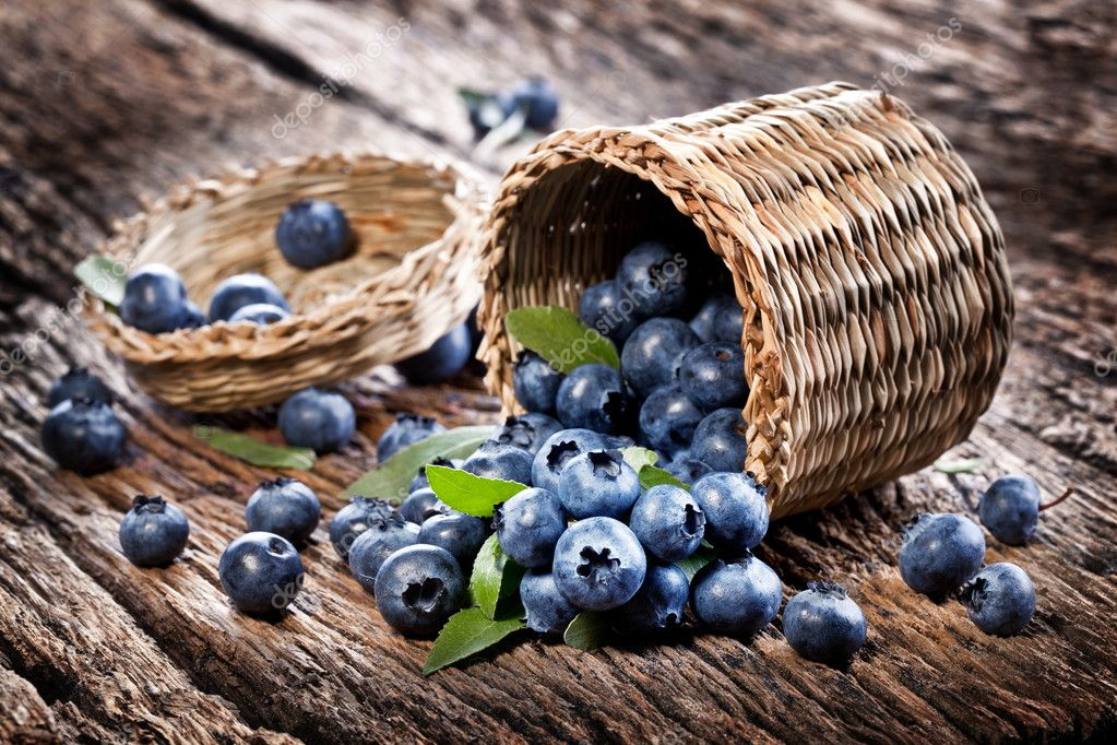 Blueberries have dropped from the basket