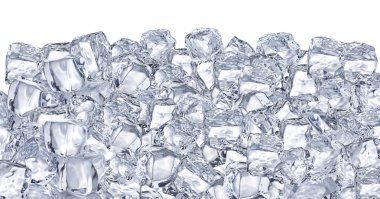 Ice cubes. File contains two clipping path - to the front and the back. stock vector