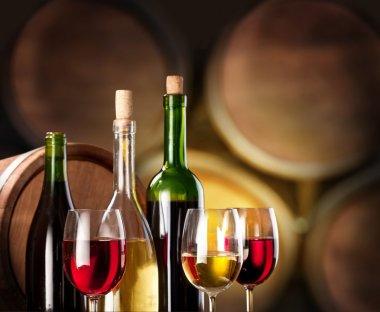 Wine tasting in the wine cellar.