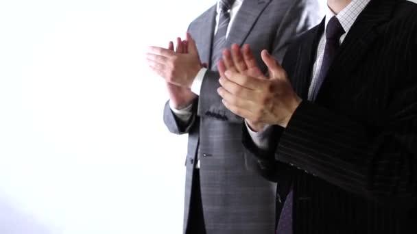 Business team applause