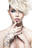 Photo Model with hairstyle and makeup