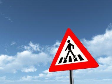 Warning Sign Zebra Crossing