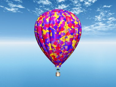 Computer generated 3D illustration with a Balloon stock vector