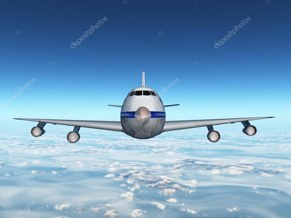 Обои вид, двигатели, Самолёт, сзади, чёрный. Авиация foto 13