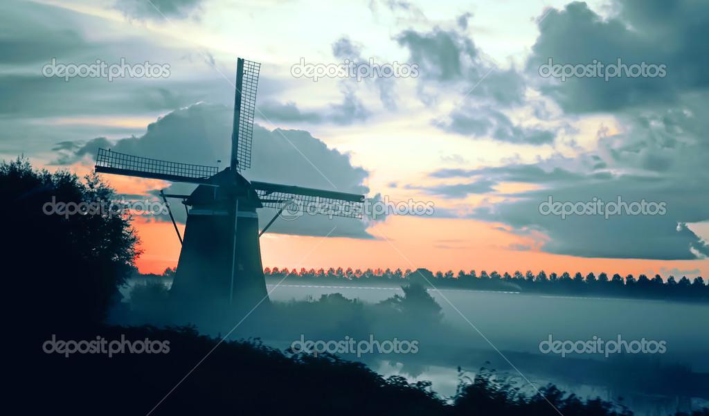 Фотообои dutch morning landscape
