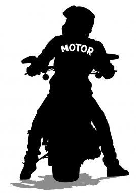 Young man on moto
