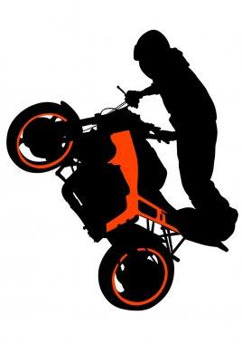 Motor sport biker