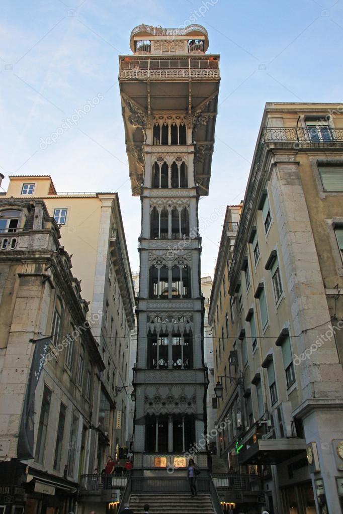 Elevador De Santa Justa O Elevador Elevador De Santa Justa Lisboa