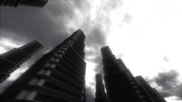 Urban Stroll. Skyscrapers. Abstract Stylized Big City Background.