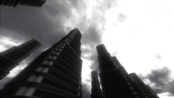 městské procházky. mrakodrapy. pozadí abstraktní stylizované velkoměsta