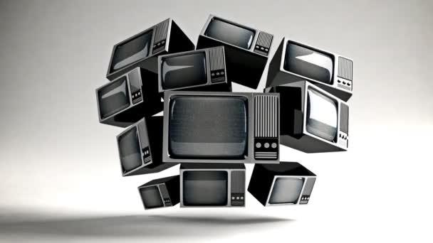 retro tv statikus