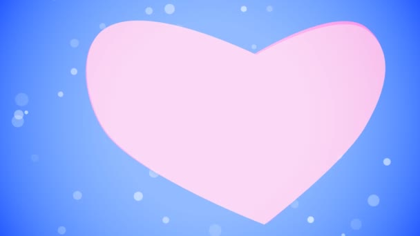 Heart.Motion background. Glowing particles background.