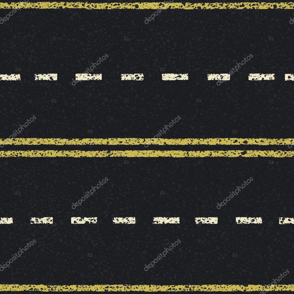 Road lines seamless pattern, vector, EPS8