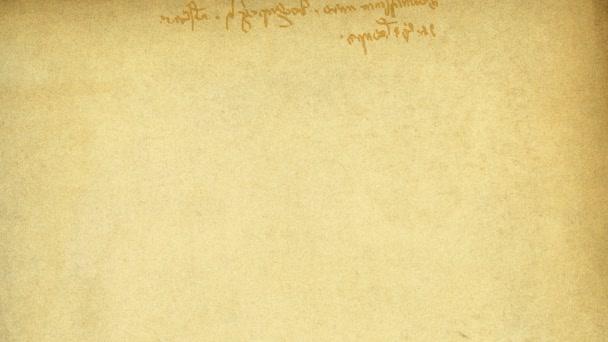 specifický rukopis Leonarda da Vinciho (zrcadlo), zprava doleva. založen na typu součástí slavné vetruvian obrazu. pozadí animace, hd