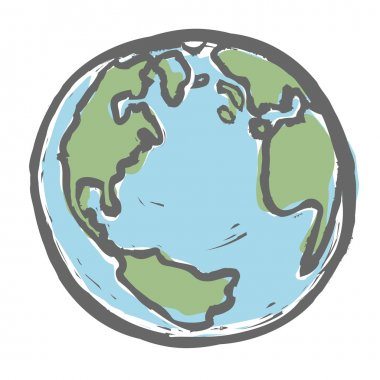 Hand drawn earth. Vector, EPS8