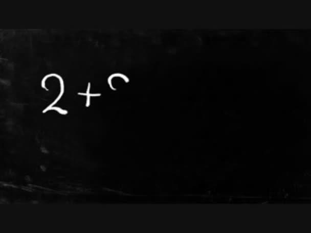 jednoduché matematické operace psaní křídou na tabuli