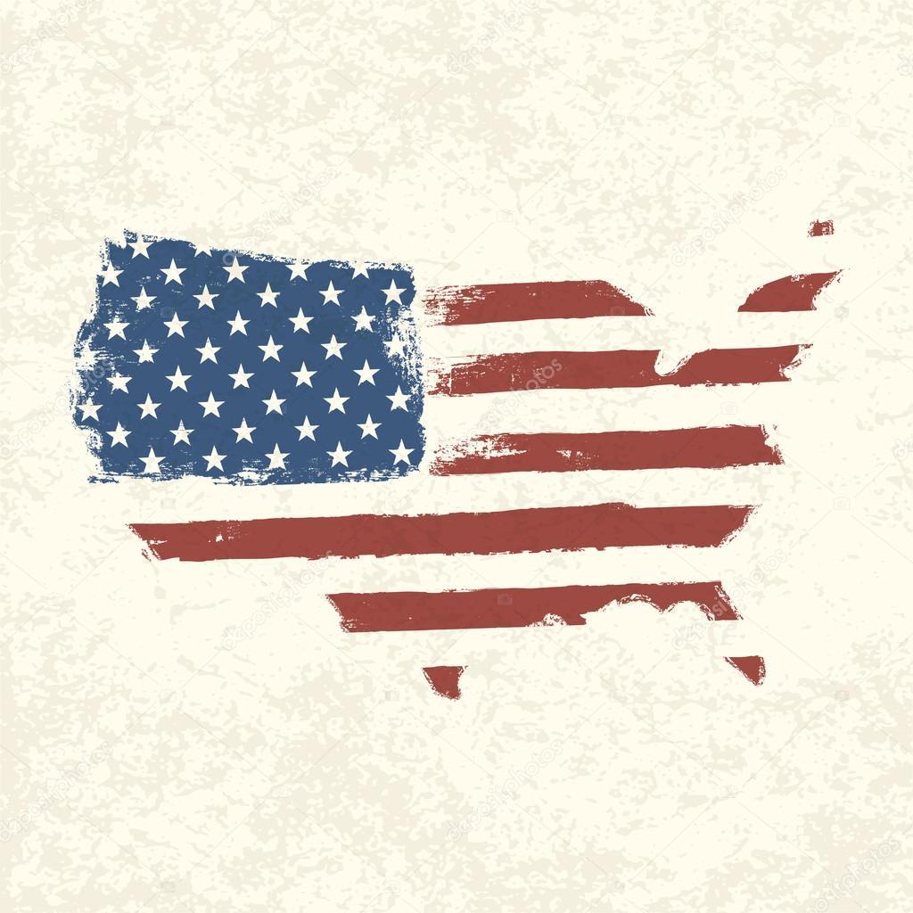 USA Flag Shape Of American Map Vector EPS Stock Vector - Usa map shape