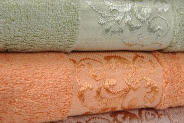 Coloured towels