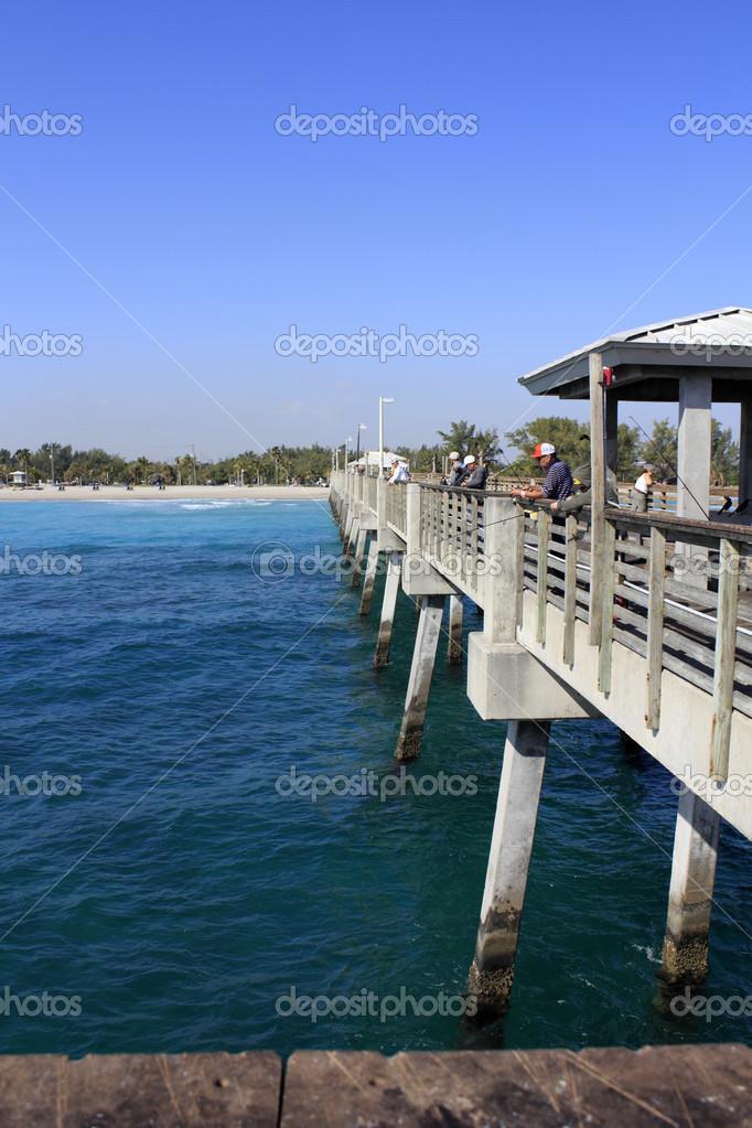 Dania Beach Pier Angeln Redaktionelles Stockfoto Serenethos
