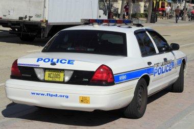 Fort Lauderdale Police Car Back