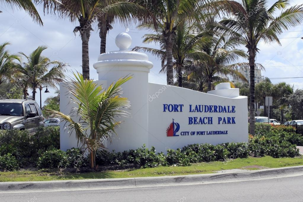 Fort Lauderdale Beach Park Sign
