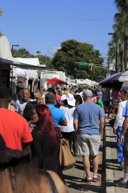 People at Las Olas Art Fair