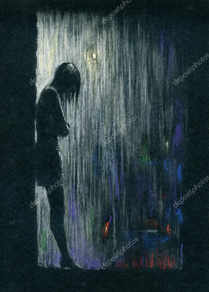 Pioggia nella notte foto stock sleepwalker 26678551 for Piani di fattoria sotto 2000 piedi quadrati