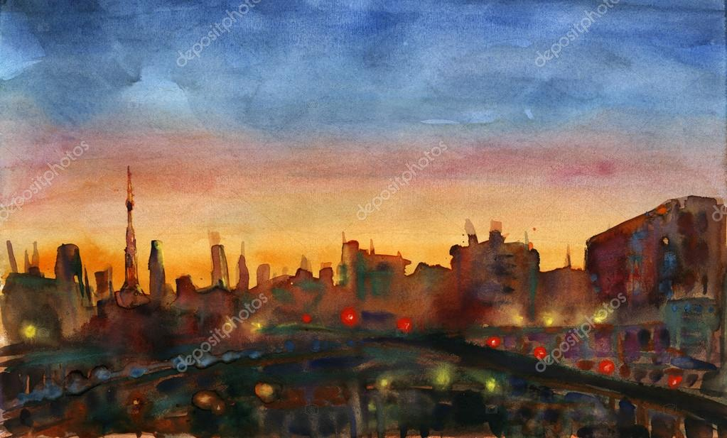 City sunset.