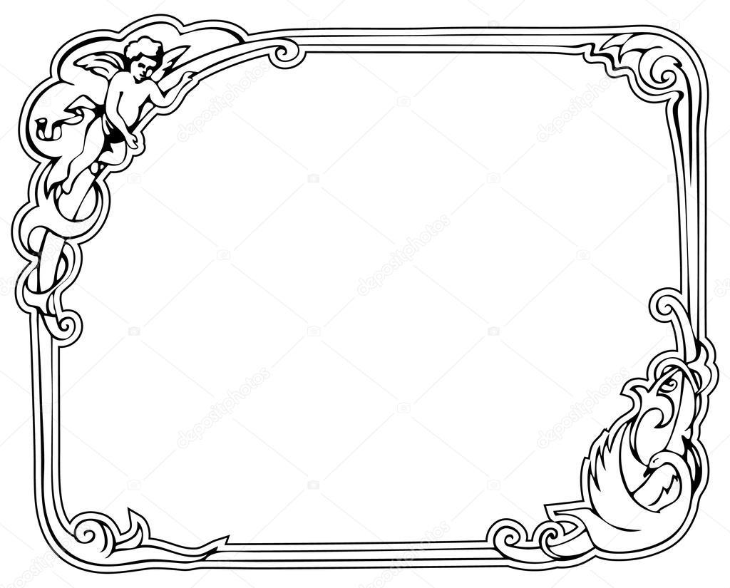 marco rococó — Archivo Imágenes Vectoriales © Sleepwalker #30724847