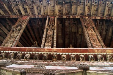 Carved wooden columns