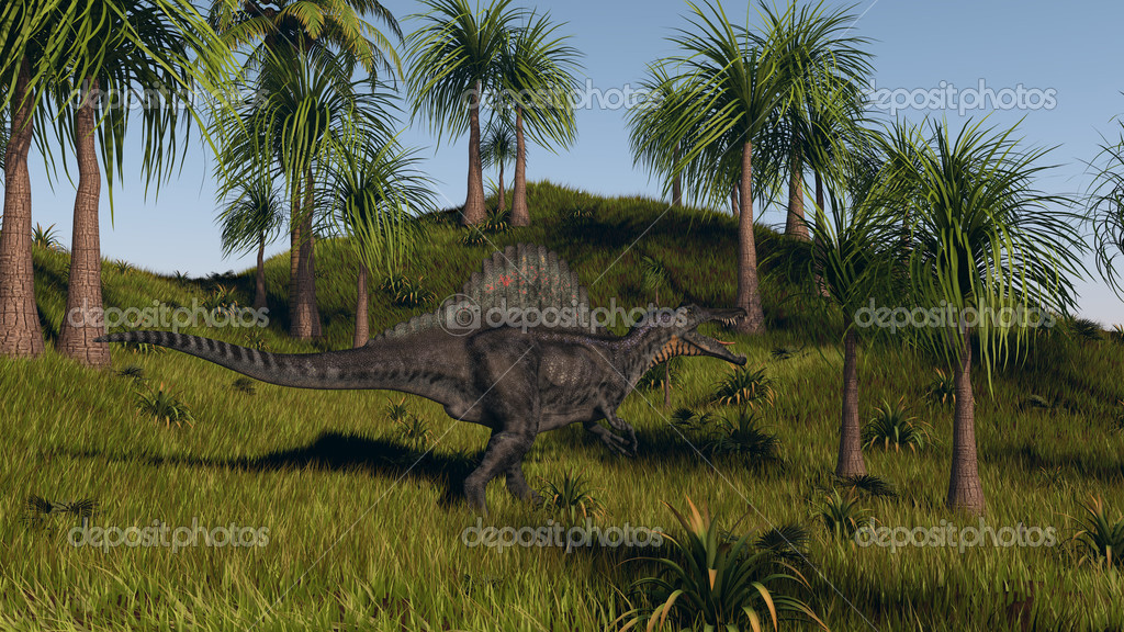 Spinosaurus walking
