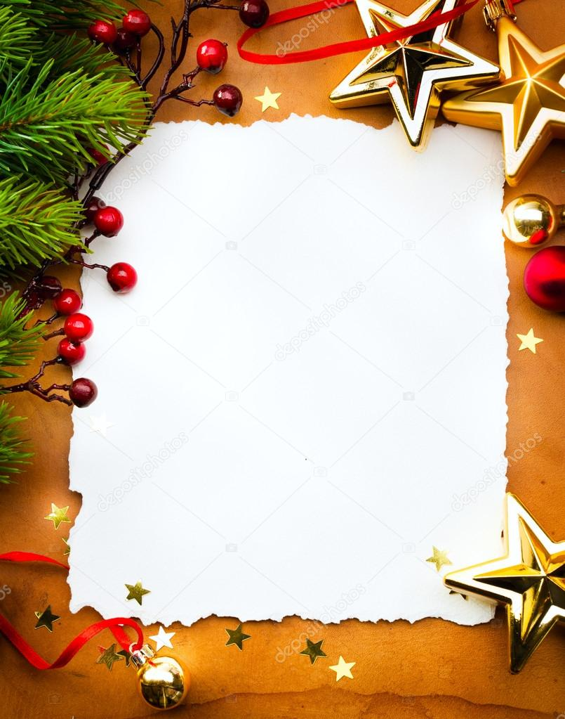 Design christmas greeting card with white paper on red backgroun design a christmas greeting card with white paper on a red background photo by konstanttin kristyandbryce Images
