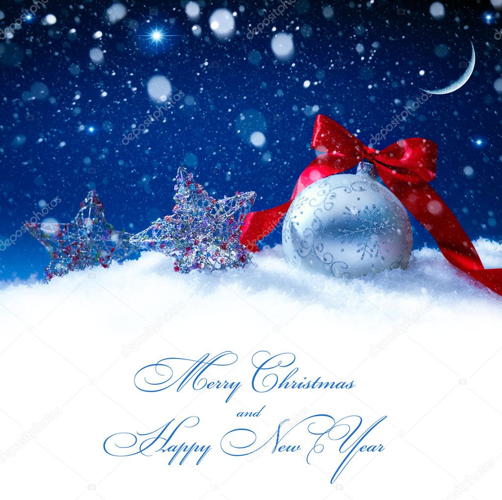 Kunst Schnee Weihnachten Dekoration magische Lichter Hintergrund ...