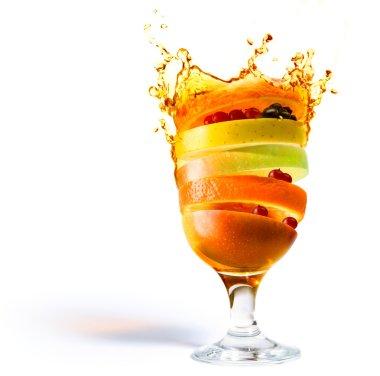 art spring fruit cocktail and fruit juice vitamin