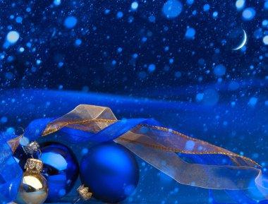 Art Blue Christmas greeting card