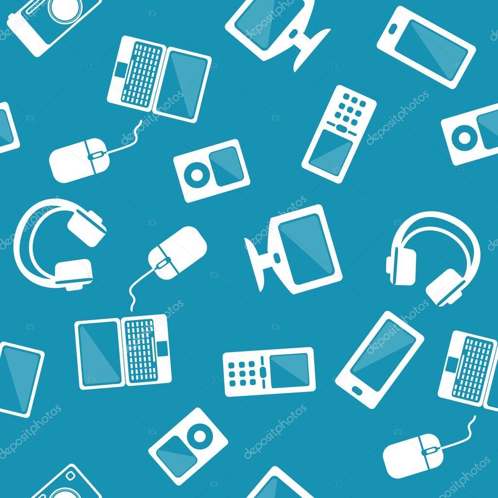 patrón de computadoras, teléfonos, tablets pc — Vector de ... - photo#44