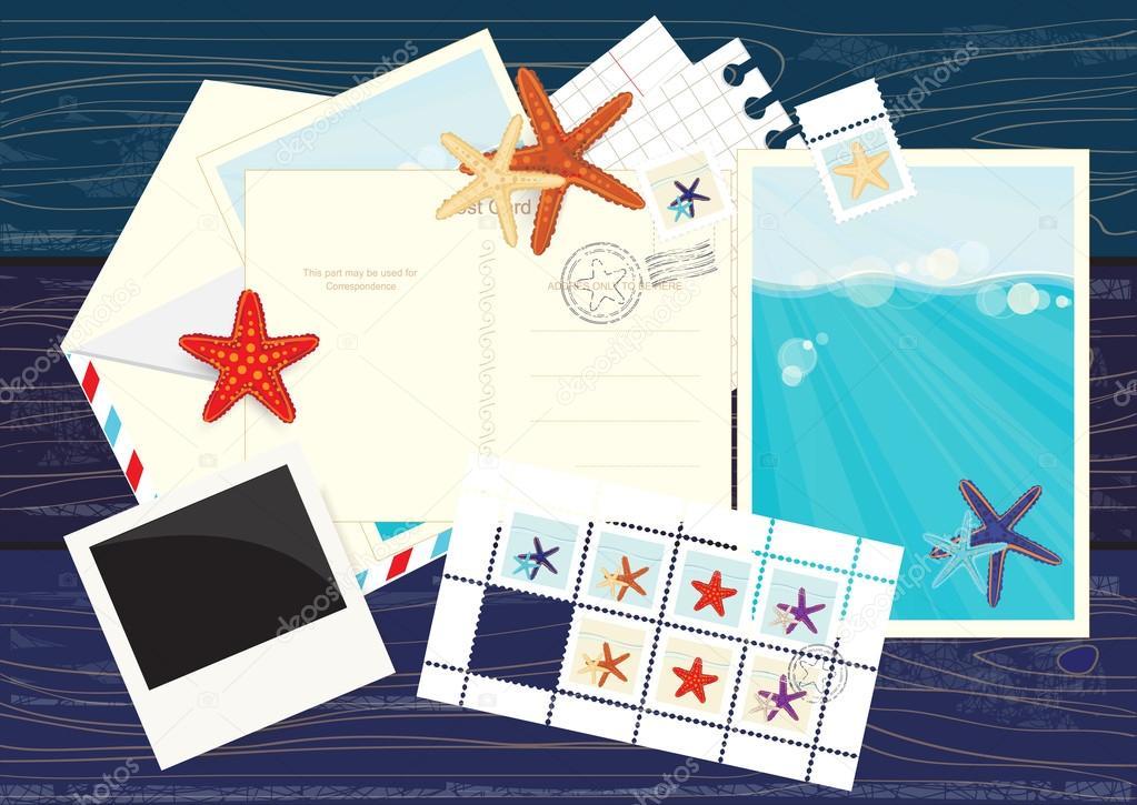pegatinas fotos, postales, correos electrónicos y estrella de mar ...