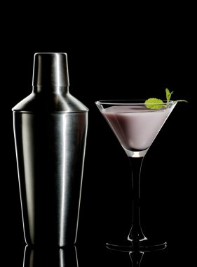 Cream cocktail and shaker