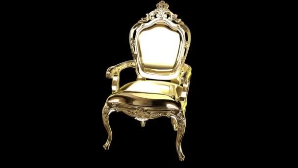 elegáns klasszikus arany fotel