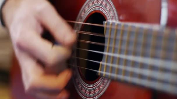 An acoustic guitar