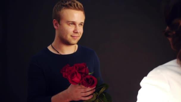 presenting roses