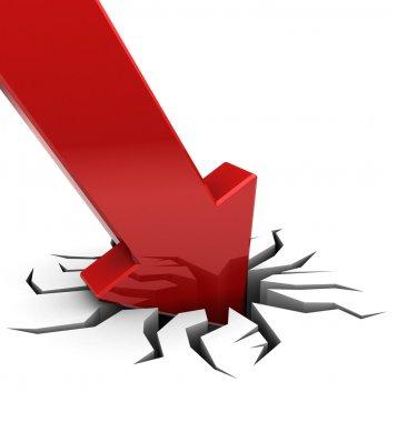 red arrow falling