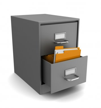 cabinet with folders