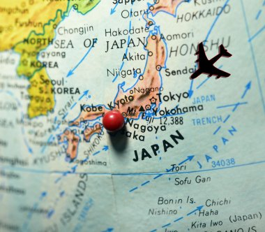 Map with Japan as Travel Destination