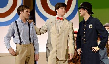 Teen Boys in a School Play