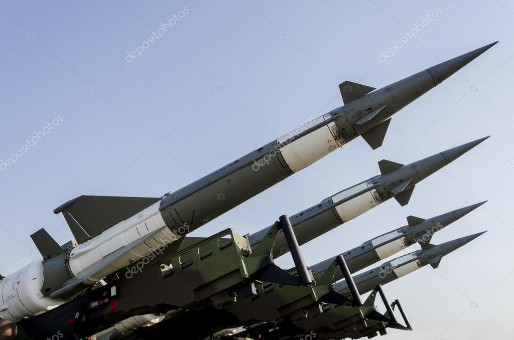 Air force missile system stock vector